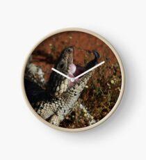 blue tongue lizard Clock