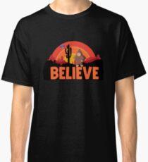 Bigfoot UFO Believe Conspiracy Theory  Classic T-Shirt