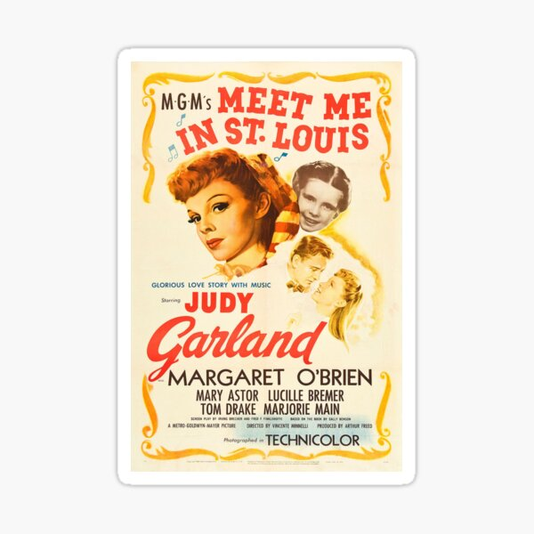 Meet Me In St Louis, Vintage Movie Poster Sticker