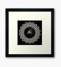 Birdwaching hummy mandala Framed Print
