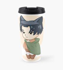 Neko Levi Attack on Titan Design Travel Mug