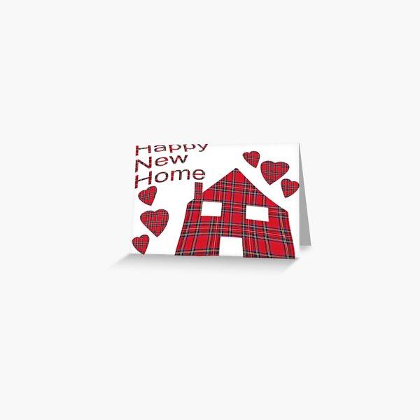 Happy New Home Tartan Greeting Card Greeting Card