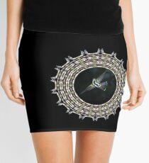 Birdwaching hummy mandala Mini Skirt