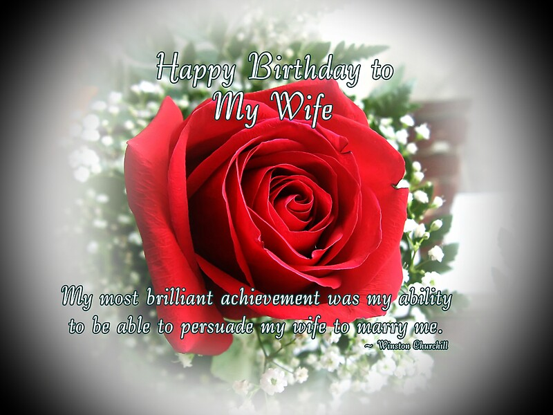 Wife Birthday Greeting Cards by Greeting Cards by Tracy DeVore – Happy Birthday to My Wife Greeting Cards