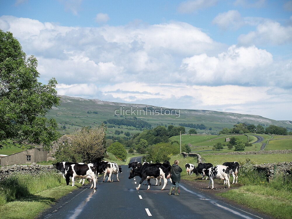 Rolling road block in Wensleydale by clickinhistory