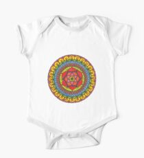 Floral Mandala - Red Rose One Piece - Short Sleeve