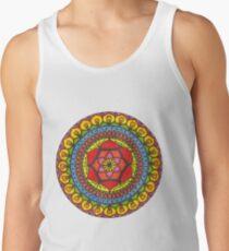 Floral Mandala - Red Rose Tank Top