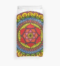 Floral Mandala - Red Rose Duvet Cover