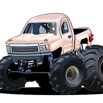 Cartoon Monster Truck by Mechanick
