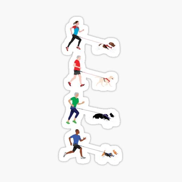Canicross Quartet Sticker