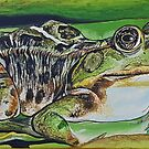 Frog painting by Alannis Turner