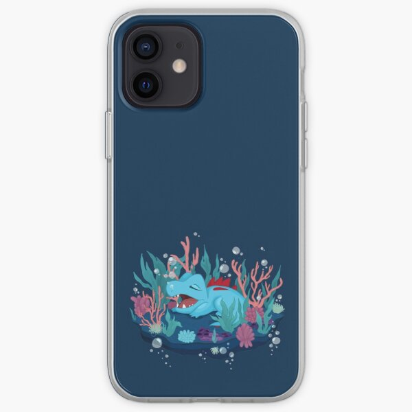 Snoozing Totodile iPhone Soft Case