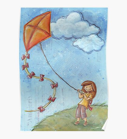 Flying a kite Poster