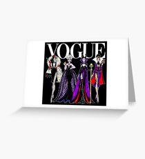 Tarjeta de felicitación VOGUE PRINCESS VILLAINS