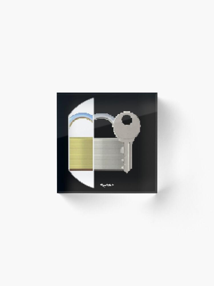 Alternate view of Securitii emoji 7 by RootCat (ska key) Acrylic Block