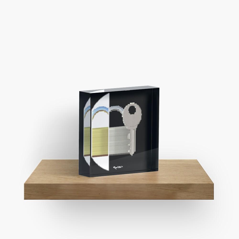 Securitii emoji 7 by RootCat (ska key) Acrylic Block