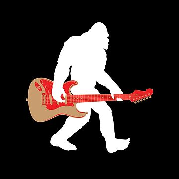 Electric Guitar Bigfoot Funny Design  by kudostees