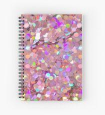 Pink Glitter Sequins Spiral Notebook