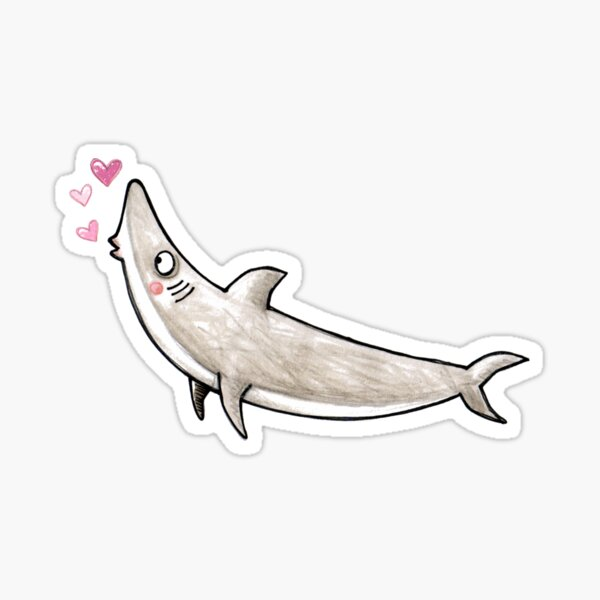 Hai - Kuss - Haifisch - Smak - Herz - Liebe Sticker