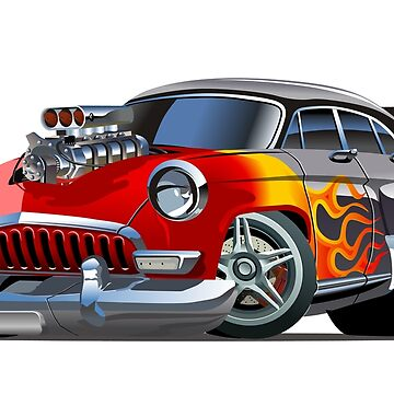 Cartoon retro hot rod by Mechanick