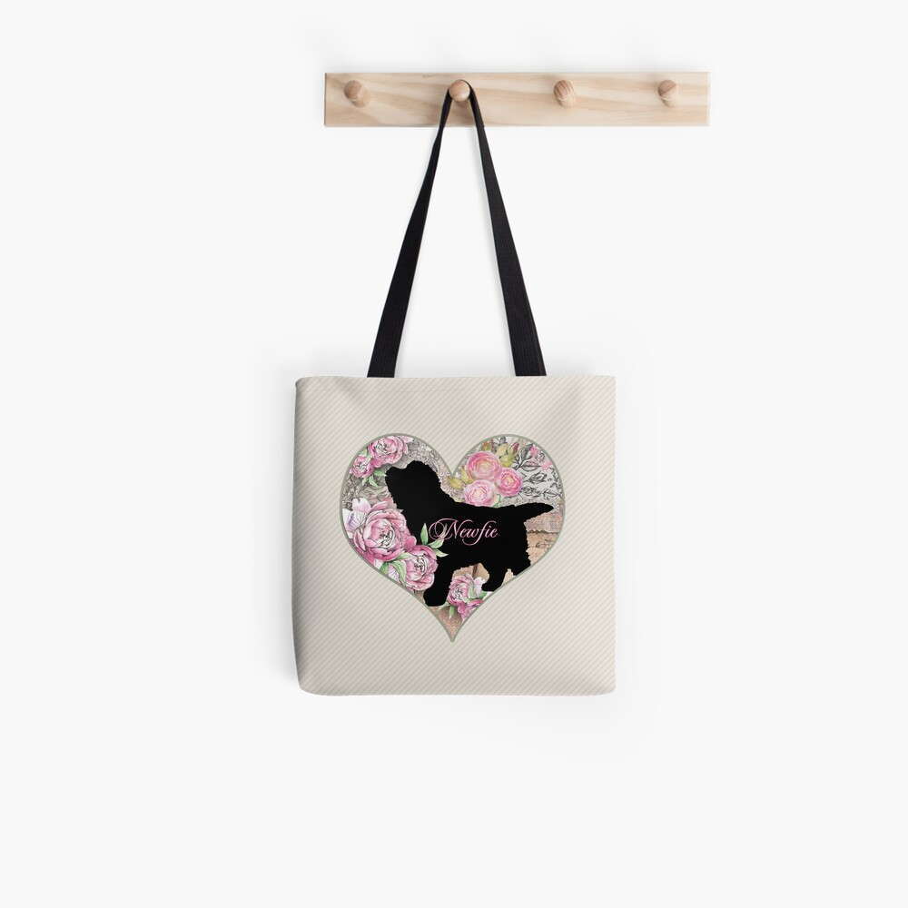 Newfie Puppy Tote Bag