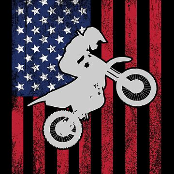Dirt Bike Motocross Supercross USA Flag Design by kudostees
