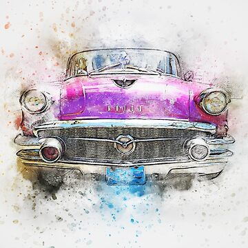 Watercolor car by BlackDevil
