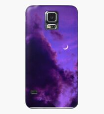 Cloudy Purple Moon Case/Skin for Samsung Galaxy