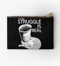 The Struggle Is Real Hedgehog Shirt for pet lovers Zipper Pouch