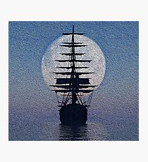 SHIP IN STORMY WEATHER  Photographic Print