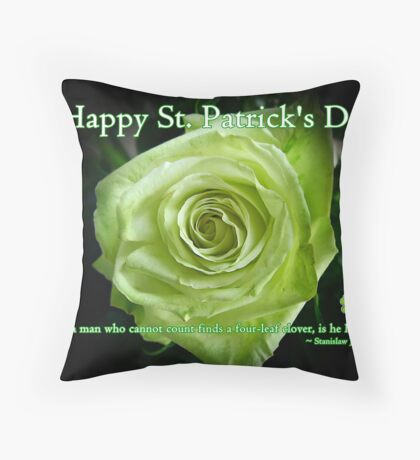 St. Patrick's Day Card Throw Pillow