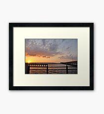 Charlotte Harbor at Sunset, As Is Framed Print