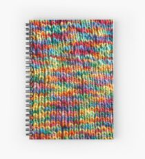 Rainbow knit fabric Spiral Notebook