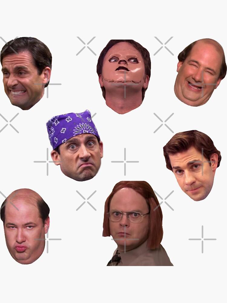 Das Office Faces Sticker Pack von abbyconnellyy