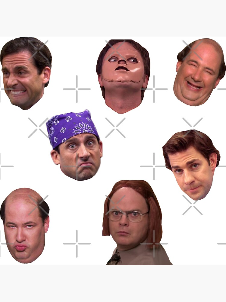 The Office Faces Sticker Pack by abbyconnellyy