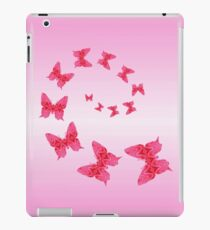 Butterflies Are Free To Fly Pink iPad Case/Skin