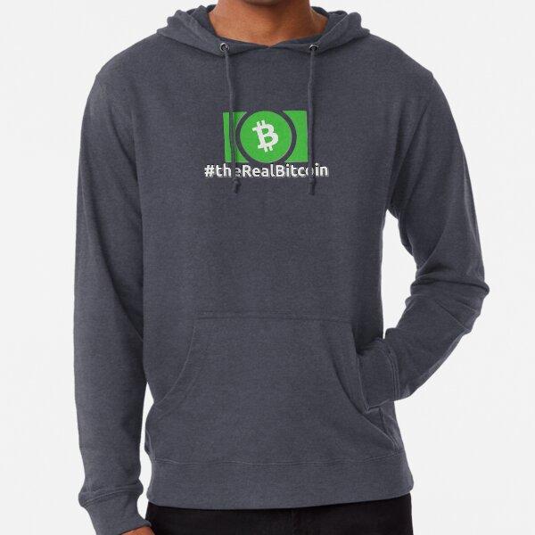 Green Bitcoin Cash Symbol #TheRealBitcoin Lightweight Hoodie