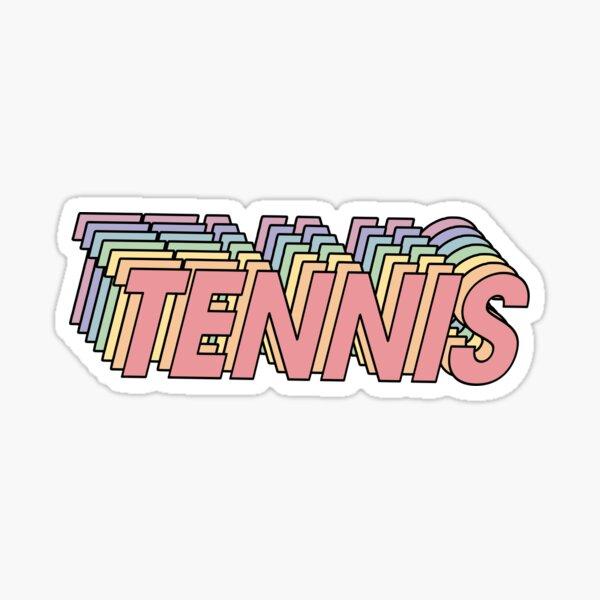 Rainbow Tennis Sticker Sticker