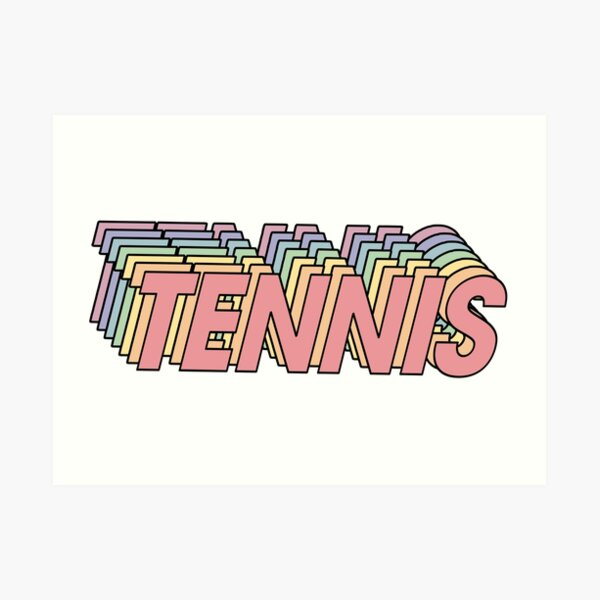 Rainbow Tennis Sticker Art Print