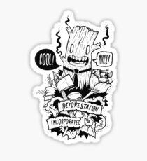 Doodleart - Deforestation Incorporated Sticker