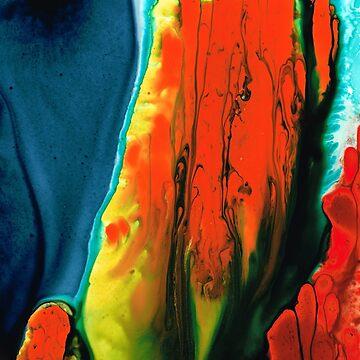 Red Abstract Art - A Little Lava - Sharon Cummings Artist by SharonCummings