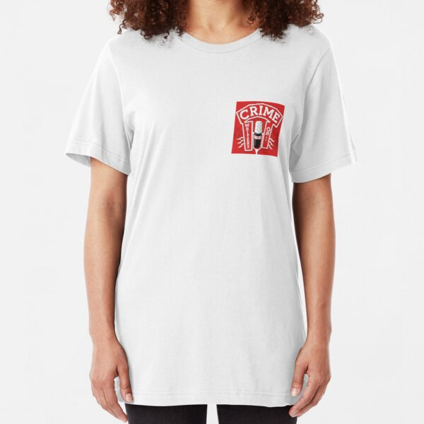 Crime Writers On... Podcast Red Logo Slim Fit T-Shirt