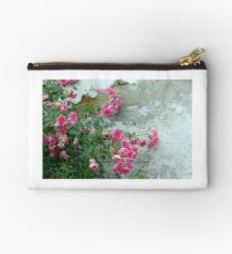 pink roses on old wall Studio Pouch