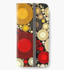 Multi Color Bubble Distressed Abstract Art  iPhone Wallet/Case/Skin