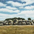Dolmen Oil Painting by Maria Meester