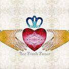 Friendship Art - Best Friends Forever - Sharon Cummings Artist by Sharon Cummings