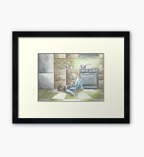 """""""The Cook and Her Cat"""" Framed Print"""