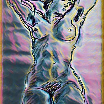 Modern Nude Woman by atelierwilfried