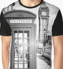 Big Ben and Telephone Booth Historic City Graphic T-Shirt