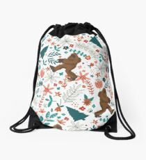 Bigfoot floral Drawstring Bag